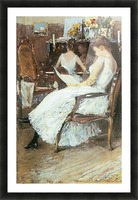 Mrs. Hassam and her sister by Hassam Picture Frame print