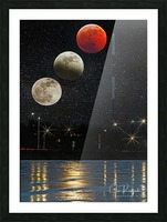 Moon Eclipse  Picture Frame print