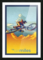 my air miles Picture Frame print