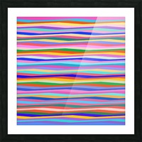 Wavy Stripes Abstract  Picture Frame print