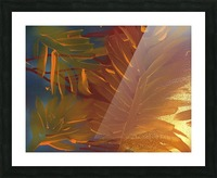 THE LEAF OF LIGHT Picture Frame print