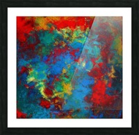 A Storm of Blood and Blue Picture Frame print