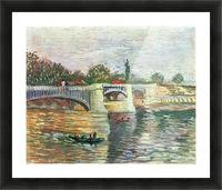 The Seine with the Pont de la Grande Jatte by Van Gogh Picture Frame print