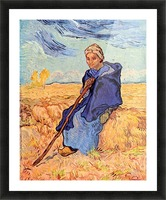 The shepherdess by Van Gogh Picture Frame print