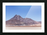 Atacama Volcano Picture Frame print