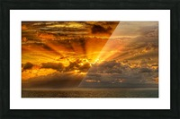Polynesian Sunrise Picture Frame print