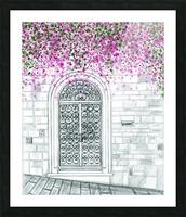 Porta in via Costa San Giorgio  Picture Frame print