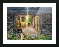 After Hours in Pas Barn LS Picture Frame print