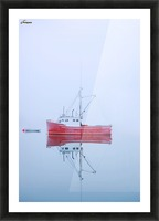 New Brunswick - fishing boat reflected in water Picture Frame print