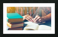 Writing Work Picture Frame print