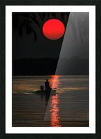 Fishing at Sunset Picture Frame print