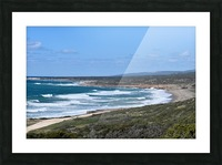 Seashore with waves and blue sky - Cyprus Picture Frame print