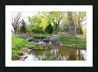 Old Iron And Stone Bridge Over Creek Picture Frame print