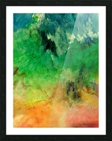 Forest Mountains Picture Frame print
