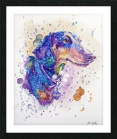 Weiner Dog - Portrait of Margot Picture Frame print