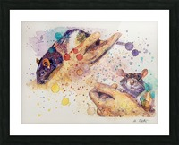 Rats - Portrait of Pixie and Peach Picture Frame print