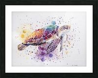 Rainbow Sea Turtle Picture Frame print