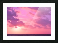 Sunset over the Sea - Shades of Pink Picture Frame print