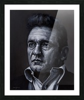 johnny cash Picture Frame print