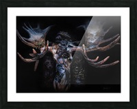 Moose Apparition  Picture Frame print