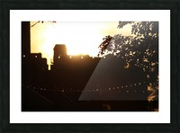 Montreal Sunset Picture Frame print