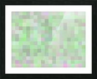 geometric square pixel pattern abstract in green and pink Picture Frame print