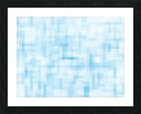 geometric square pixel pattern abstract in blue Picture Frame print