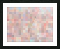 geometric square pixel pattern abstract in pink and blue Picture Frame print
