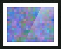 geometric square pixel pattern abstract in purple blue pink Picture Frame print
