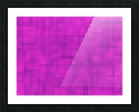 geometric square pixel pattern abstract in pink and purple Picture Frame print