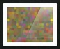 geometric square pixel pattern abstract in green pink yellow Picture Frame print
