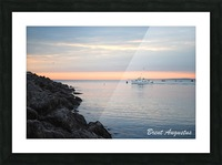 Sunrise Bay Picture Frame print