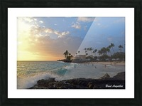 Sunset Beach Picture Frame print