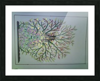 tree with angel art Picture Frame print