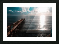 Blue majestic Picture Frame print