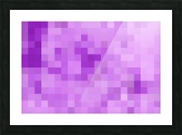 Abstract Pixel Art - Purple Shades Picture Frame print