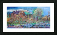 CHAPEL ON THE ROCK  THE SAINT CATHERINE OF SIENA CHAPEL IN ALLENSPARK Picture Frame print