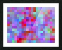 geometric square pixel pattern abstract background in pink blue purple Picture Frame print