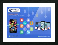 Android App Development Company In Noida Picture Frame print