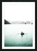 Ha Long Bay Fishing Picture Frame print