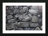 Lava brick Picture Frame print