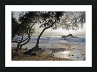 Wild Hawaii Beach Picture Frame print