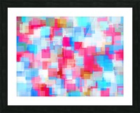 geometric square pattern abstract background in pink and blue Picture Frame print