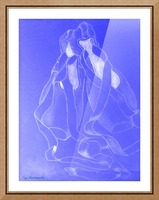 Celestial Pointe Shoes Picture Frame print