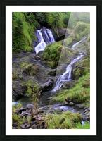 Upper Hanawi Falls Picture Frame print