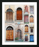 Italian Wooden Doors Collage Picture Frame print