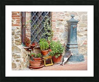 Pawse for a Drink in Paciano Picture Frame print