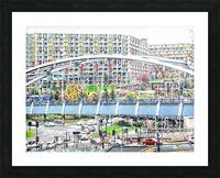 Park Square Bridge Sheffield Picture Frame print
