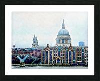 Millennium Bridge to St Pauls Cathedral London Picture Frame print