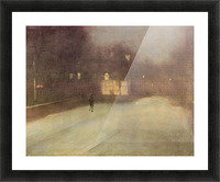 Nocturne in gray and gold, snow in Chelsea by James Abbot McNeill Whistler Picture Frame print